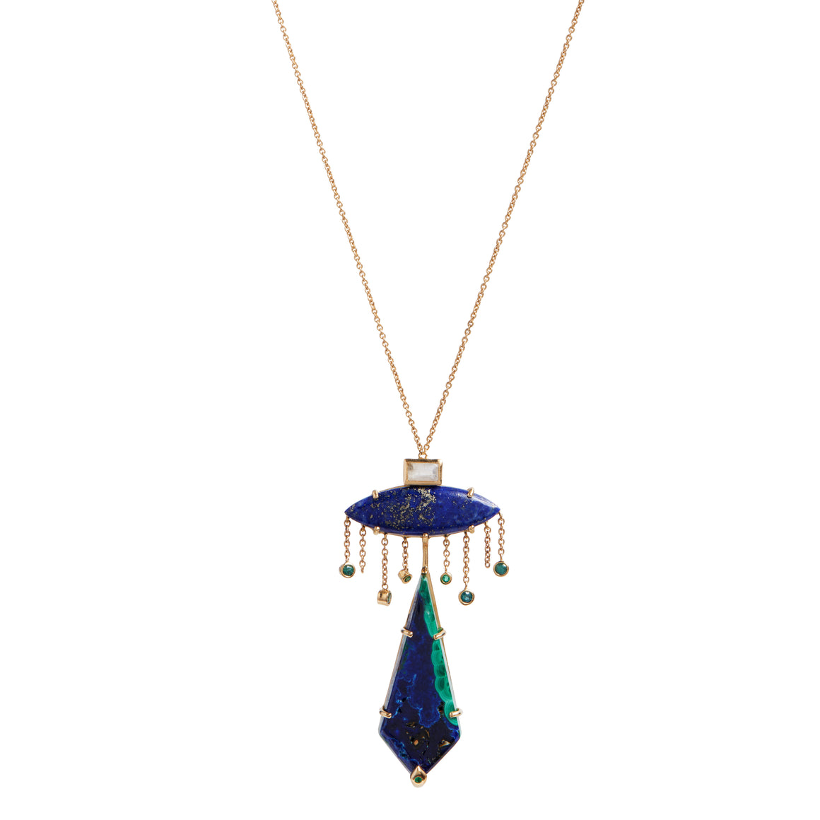 "Azurite ""Skyfound"" Necklace by Unhada"