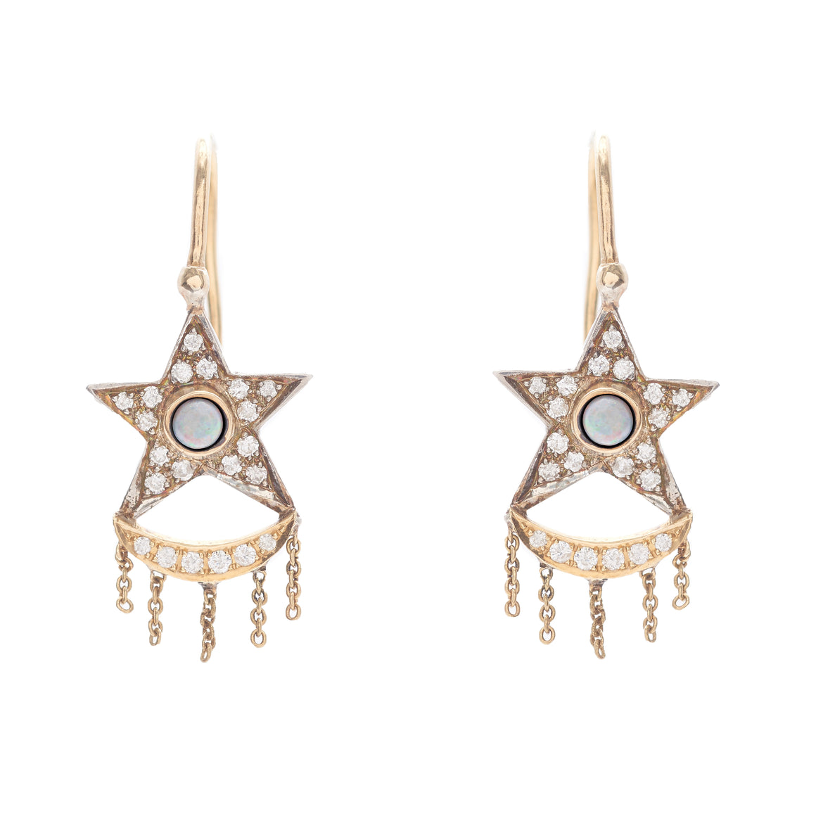 """Xiao"" Opal and Diamond Earrings by Unhada"