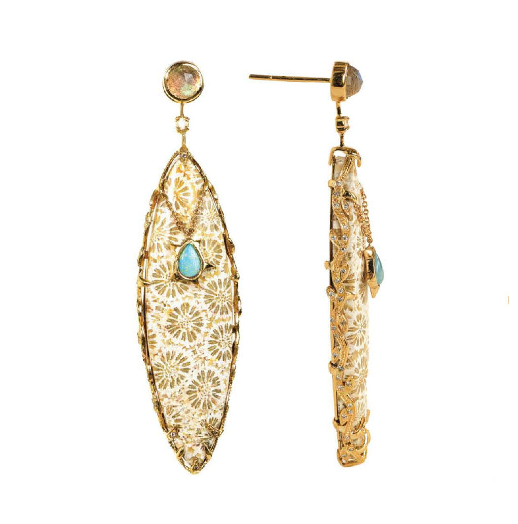 """Bali Dynasty"" Earrings by Unhada - Talisman Collection Fine Jewelers"