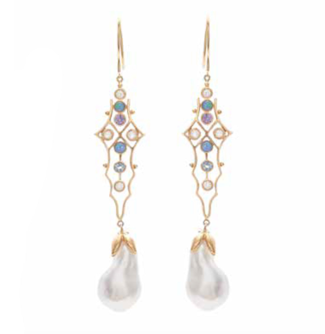 """Baroque Magic"" Earrings by Unhada - Talisman Collection Fine Jewelers"