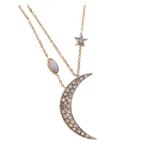 """Dark Moon"" Necklace by Unhada - Talisman Collection Fine Jewelers"