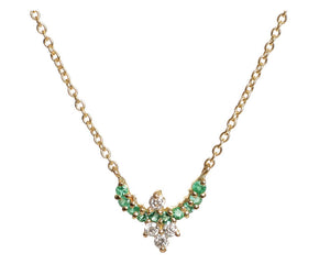 """Diadem"" Emerald Necklace by Unhada - Talisman Collection Fine Jewelers"