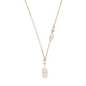 """Fairydusted"" White Opal Necklace by Unhada"