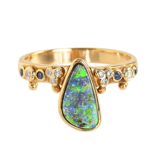 """First Knight"" Boulder Opal Ring by Unhada - Talisman Collection Fine Jewelers"