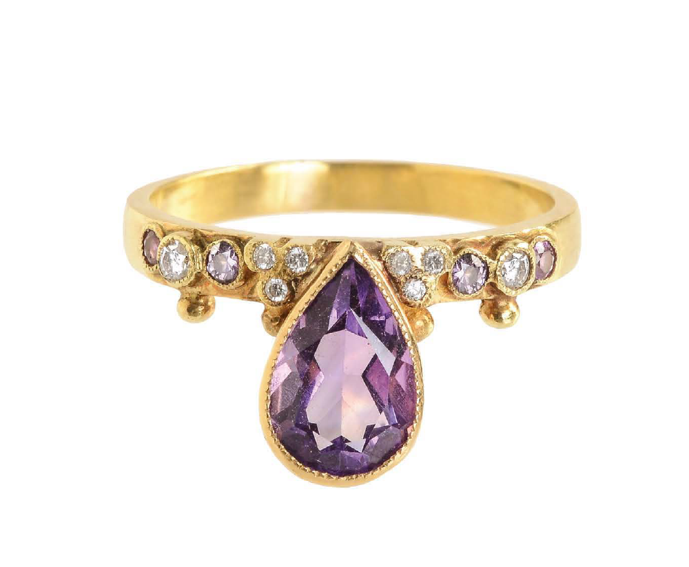 "Amethyst ""First Knight"" Ring by Unhada - Talisman Collection Fine Jewelers"