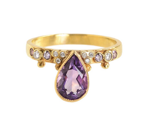 """First Knight"" Amethyst Ring by Unhada - Talisman Collection Fine Jewelers"