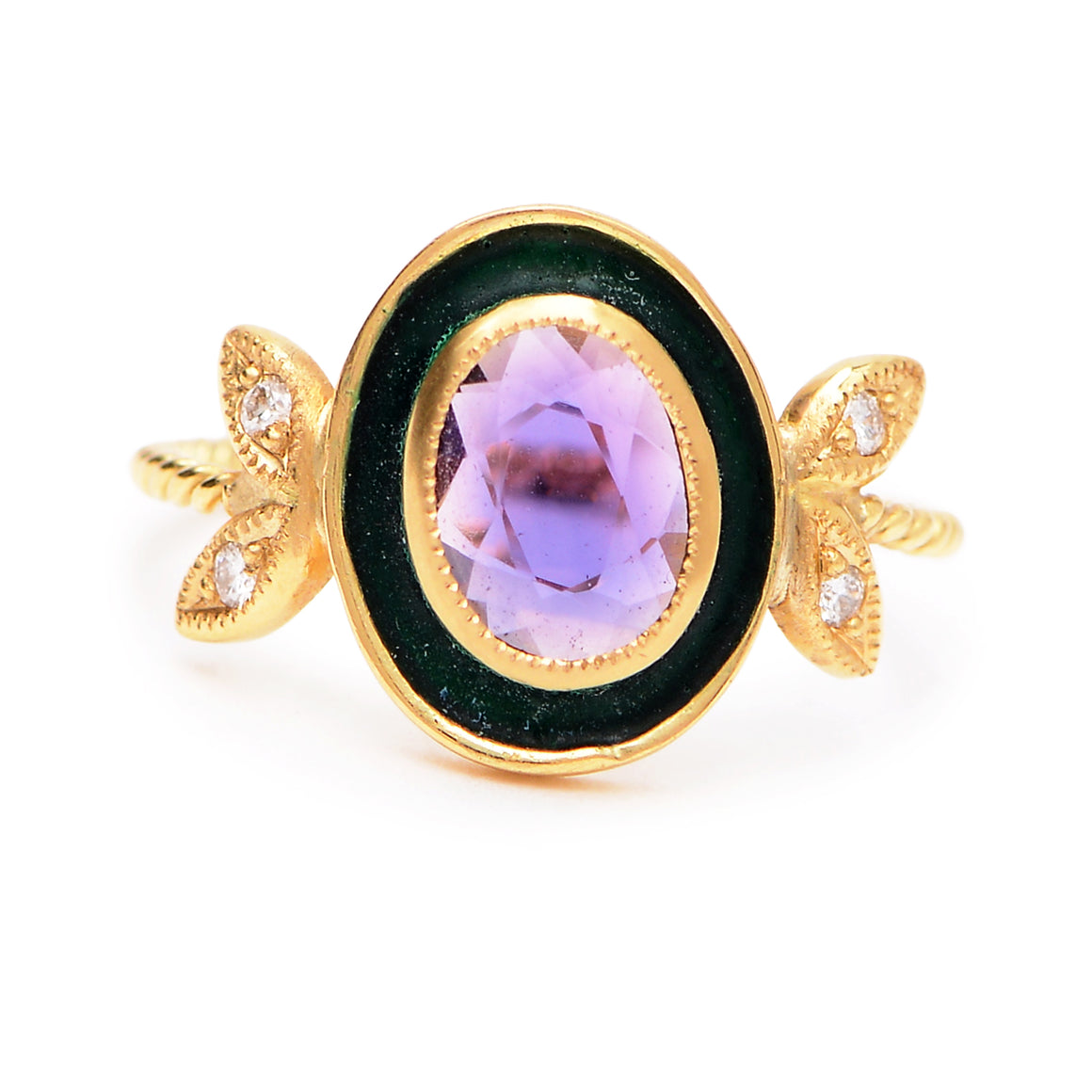 """Legacy"" Purple Sapphire Ring by Unhada - Talisman Collection Fine Jewelers"