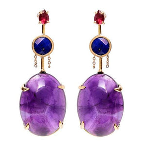 """Mariani"" Amethyst Earrings by Unhada - Talisman Collection"