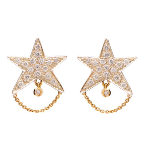 """Tiny Dancer"" Diamond Stud Earrings by Unhada"