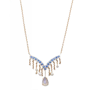 """V Fringe"" Necklace by Unhada - Talisman Collection Fine Jewelers"