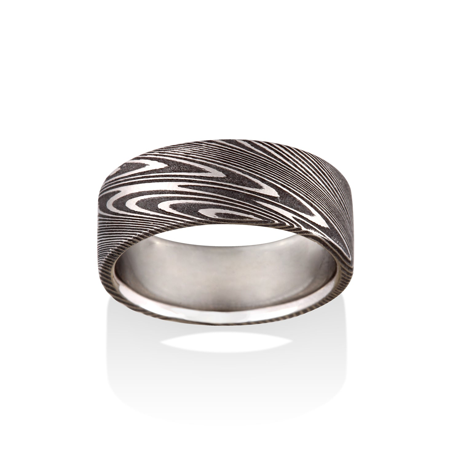 Thor Oxidized Damascus Steel Ring by Chris Ploof - Talisman Collection Fine Jewelers