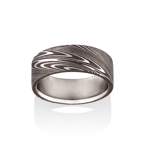 Chris Ploof Thor Oxidized Damascus Steel Ring