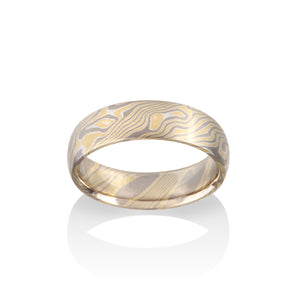 Birch Mokume Ring by Chris Ploof - Talisman Collection Fine Jewelers