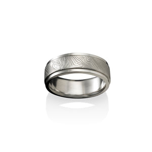 Storm's Eye Damascus Steel Ring by Chris Ploof - Talisman Collection Fine Jewelers