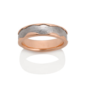 Arcturus Meteorite Ring by Chris Ploof - 14k Red Gold - Talisman Collection Fine Jewelers