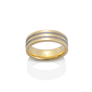 Chris Ploof 18K Yellow Gold Polaris Meteorite Ring