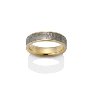 Chris Ploof Sirius 18k Yellow Gold Meteorite Ring