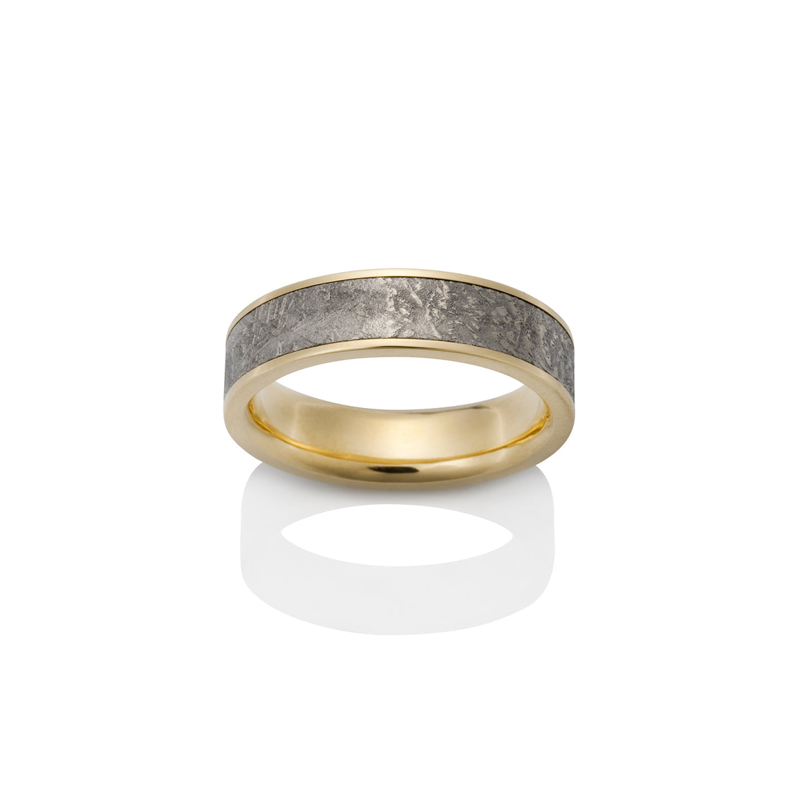 Sirius Meteorite Ring by Chris Ploof - 18k Yellow Gold - Talisman Collection Fine Jewelers