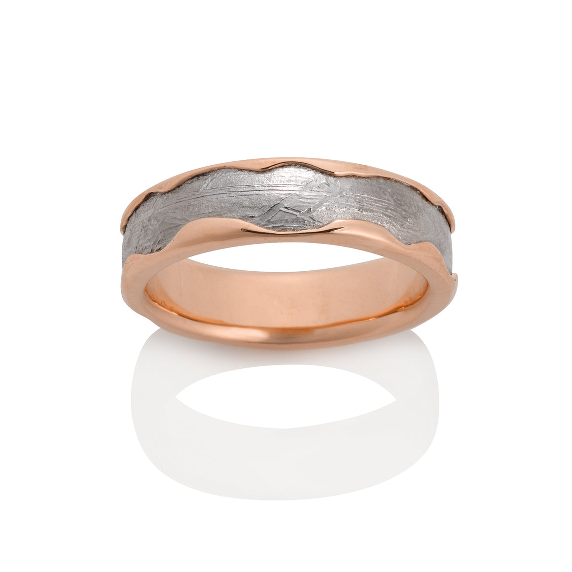 Chris Ploof 14K Red Gold Arcturus Meteorite Ring