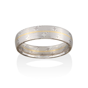Spruce Mokume Ring by Chris Ploof - Talisman Collection Fine Jewelers