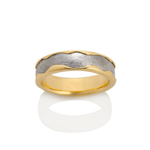 Arcturus Meteorite Ring by Chris Ploof - 18K Yellow Gold - Talisman Collection Fine Jewelers