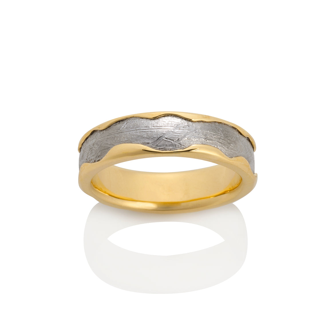 Chris Ploof 18K Yellow Gold Arcturus Meteorite Ring