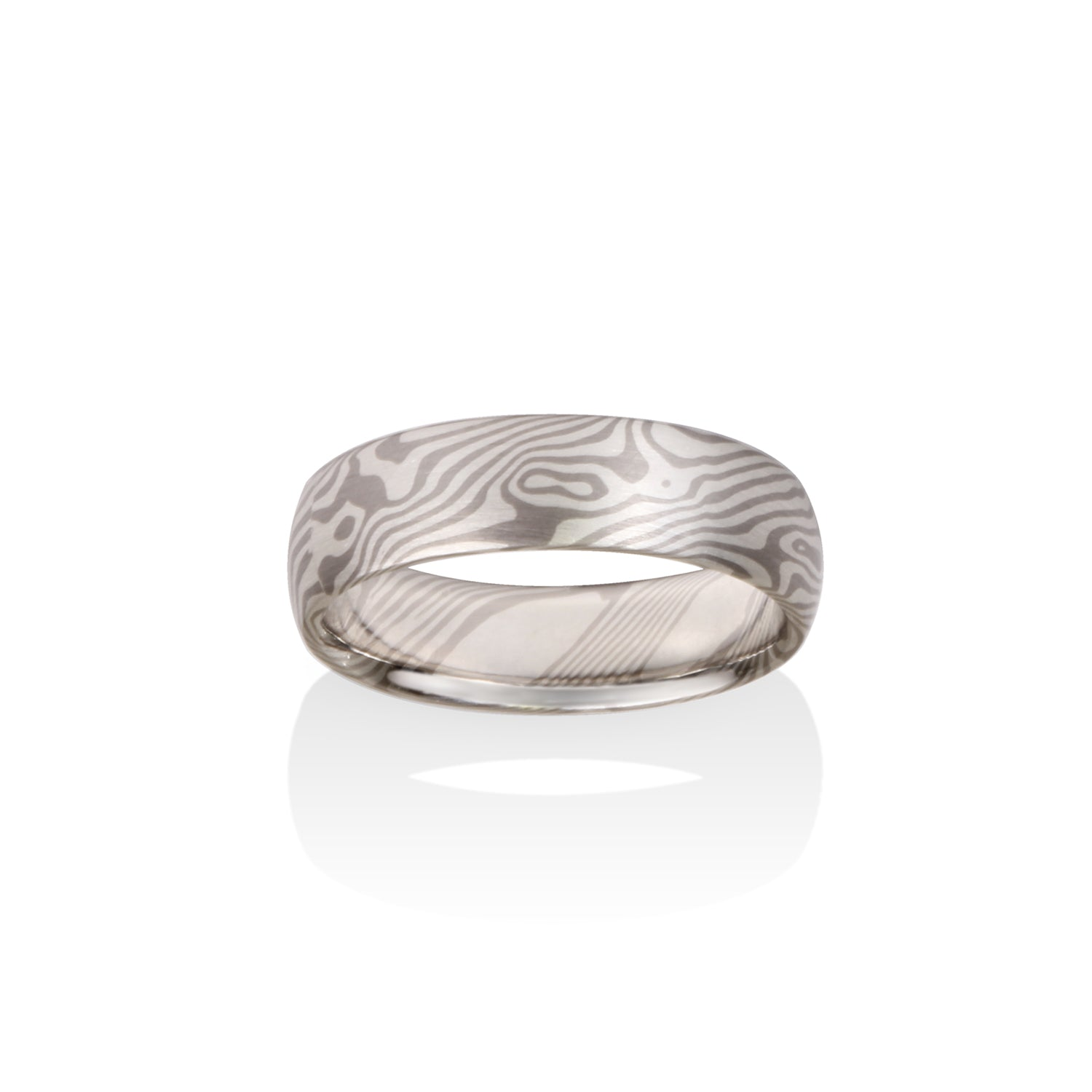 Maple Mokume Ring by Chris Ploof - Palladium - Talisman Collection Fine Jewelers