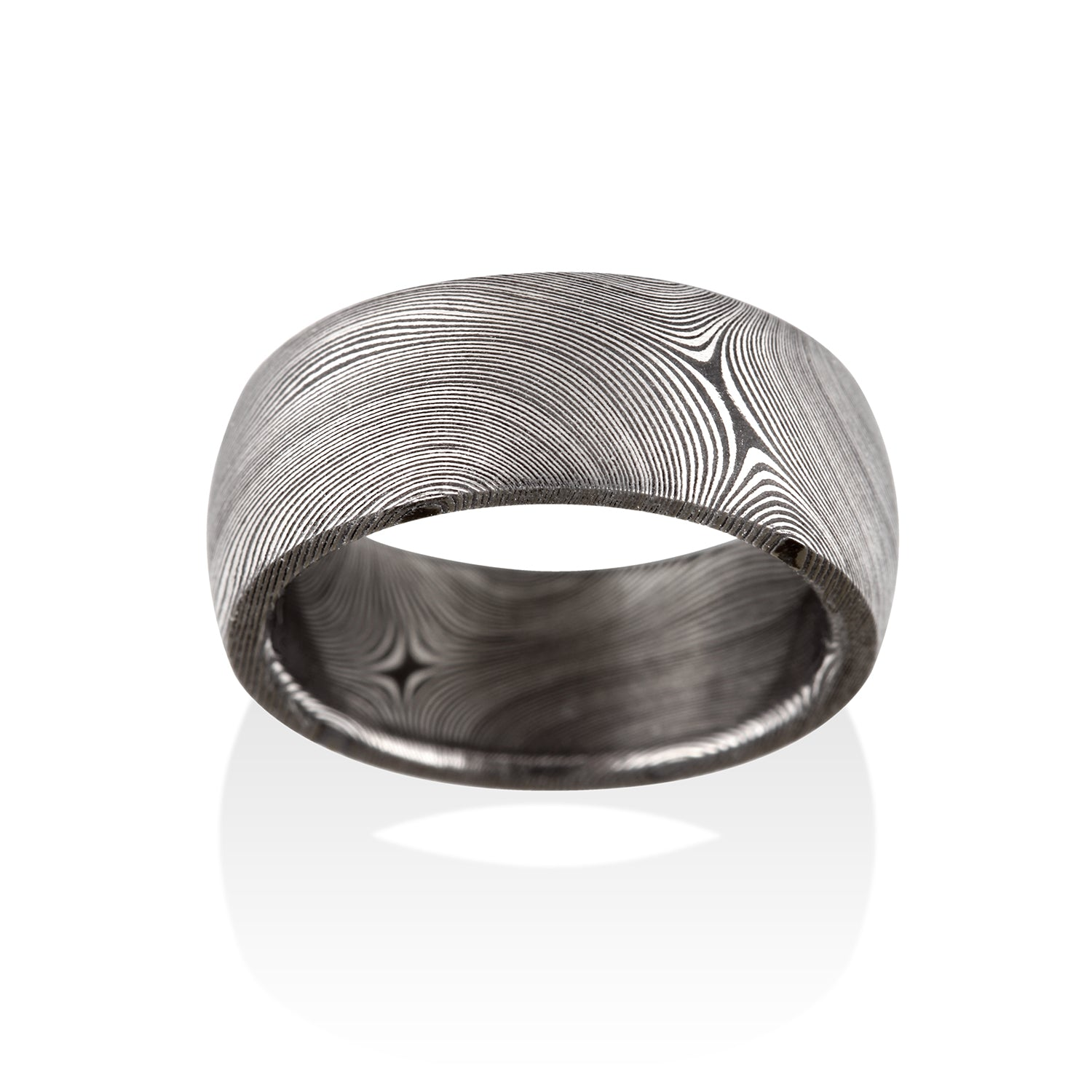 Starlight Oxidized Damascus Steel Ring by Chris Ploof - Talisman Collection Fine Jewelers