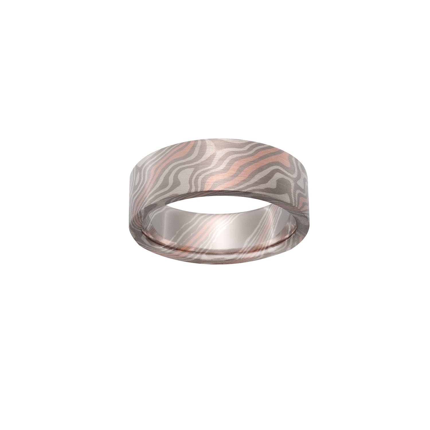 Beech Mokume Ring by Chris Ploof - 14k Red Gold - Talisman Collection Fine Jewelers