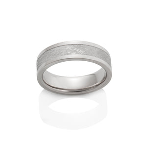 Chris Ploof 18K Palladium White Gold Capella Meteorite Ring