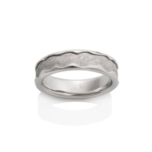 Arcturus Meteorite Ring by Chris Ploof - 14k White Gold - Talisman Collection Fine Jewelers