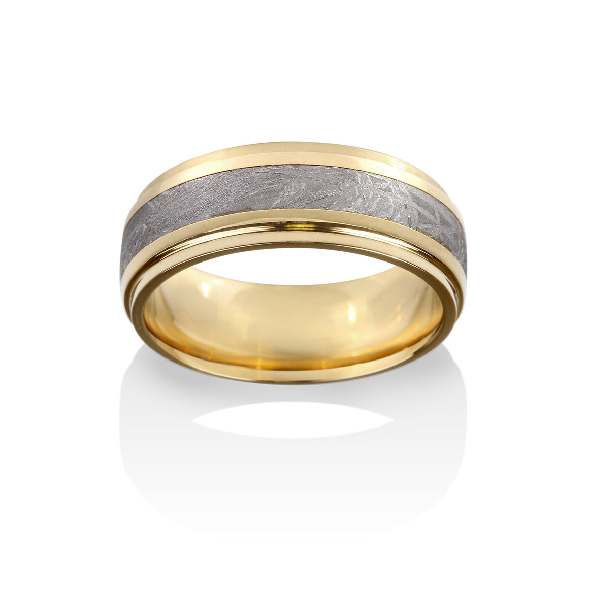 Chris Ploof 18K Yellow Gold Rigil Kentaurus Meteorite Ring