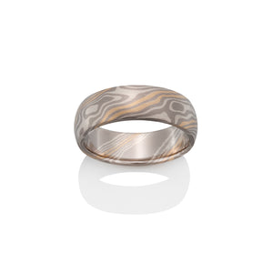 Beech Mokume Ring by Chris Ploof - 18k Yellow Gold