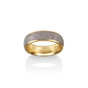 Chris Ploof 18K Yellow Gold Vega Meteorite Ring