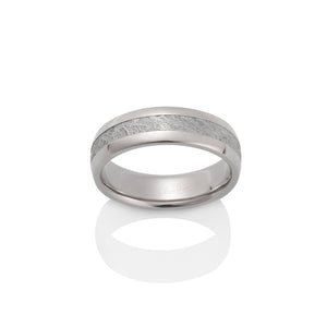 Canopus Meteorite Ring by Chris Ploof - 18k White Gold - Talisman Collection Fine Jewelers