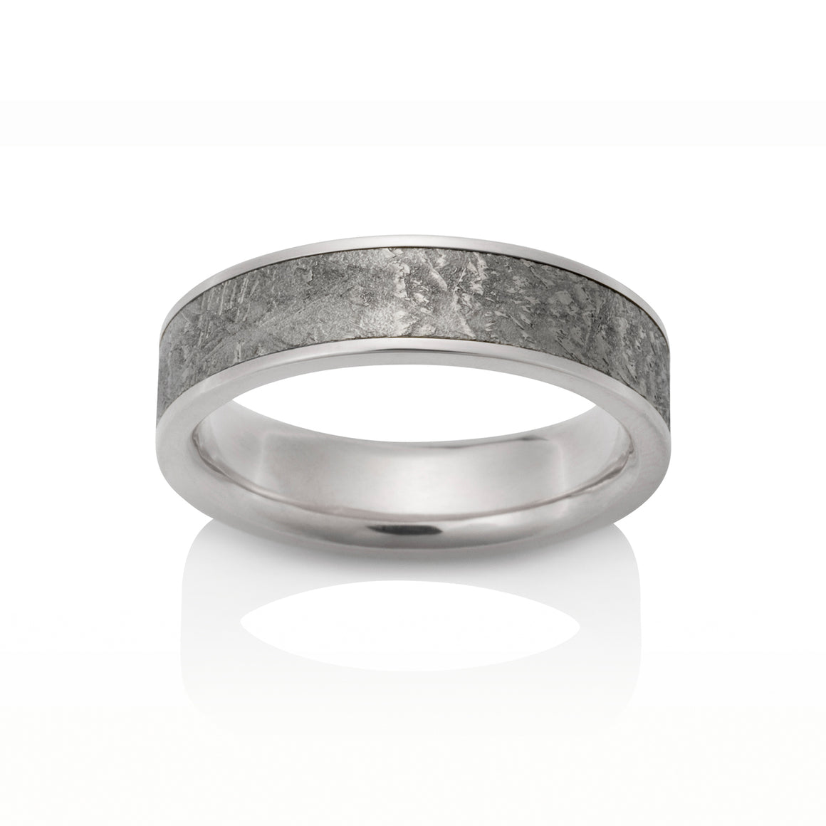 Chris Ploof 18K Palladium White Gold Sirius Meteorite Ring