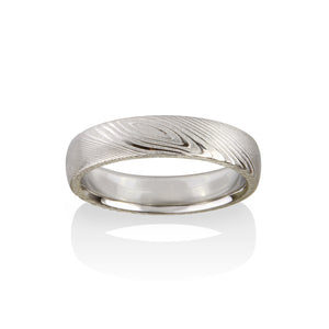 Chris Ploof Pathways Damascus Steel Ring
