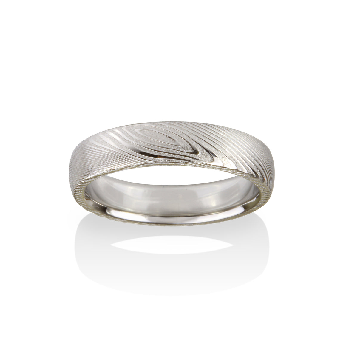 Pathways Damascus Steel Ring by Chris Ploof - Talisman Collection Fine Jewelers
