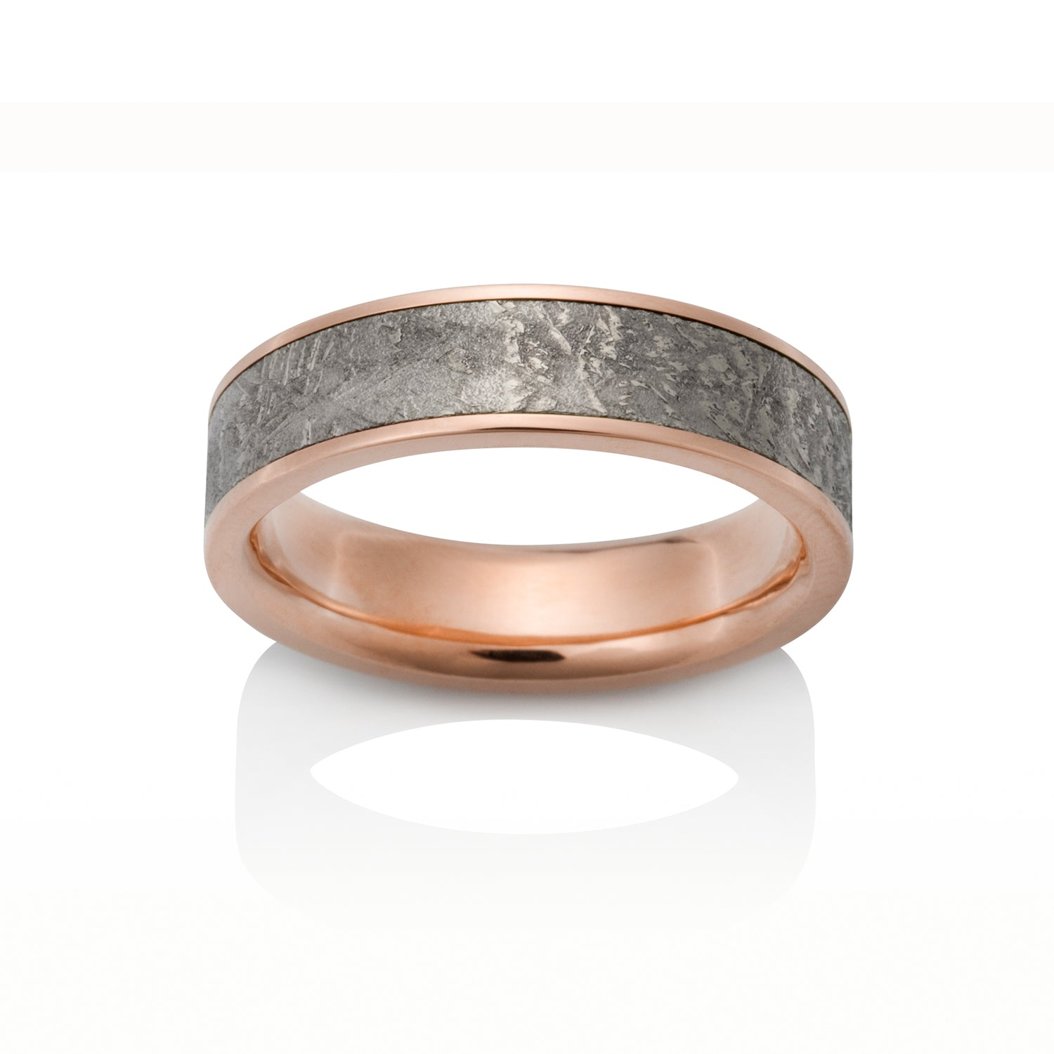 Sirius Meteorite Ring by Chris Ploof - 14k Red Gold - Talisman Collection Fine Jewelers