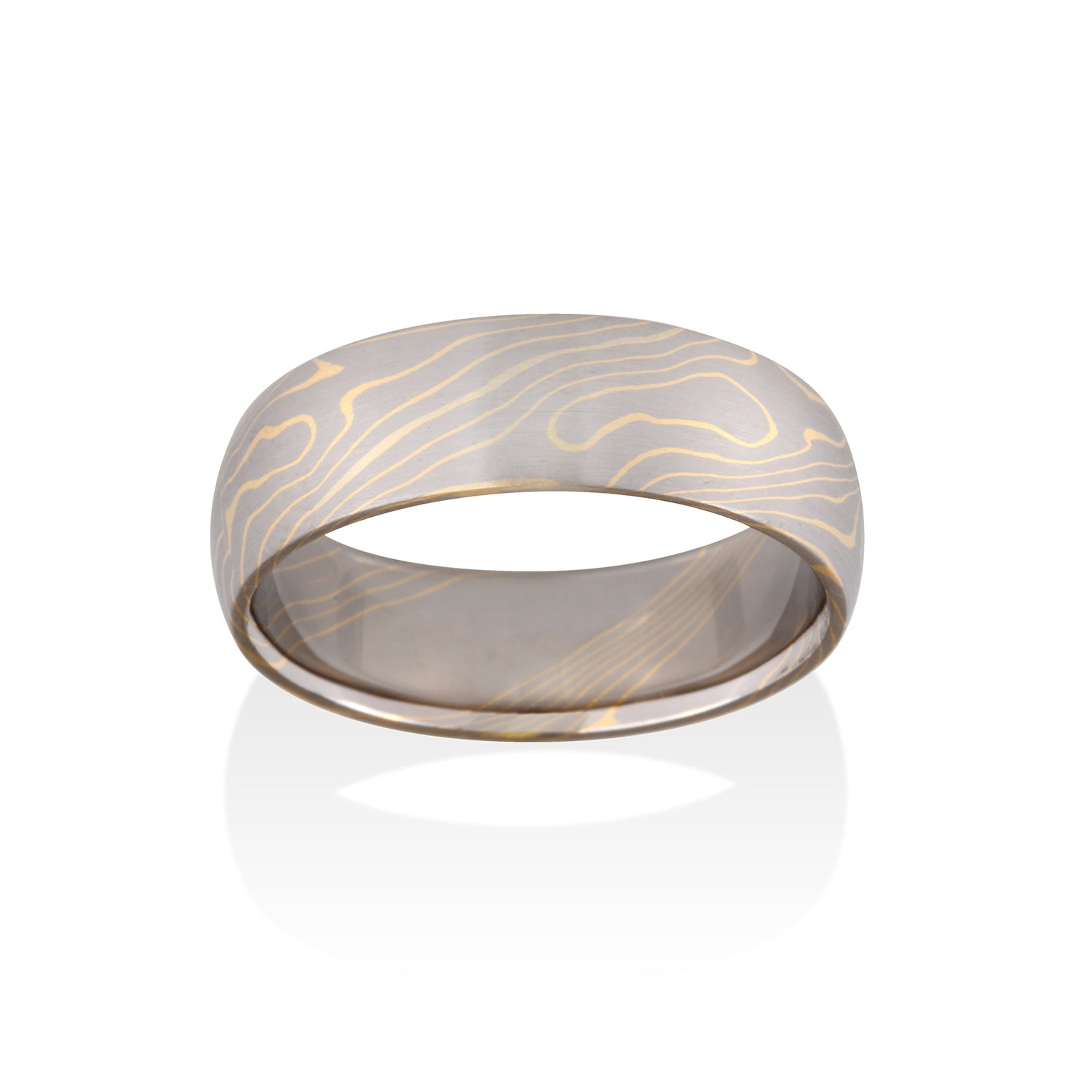 Aspen Mokume Ring by Chris Ploof - Talisman Collection Fine Jewelers