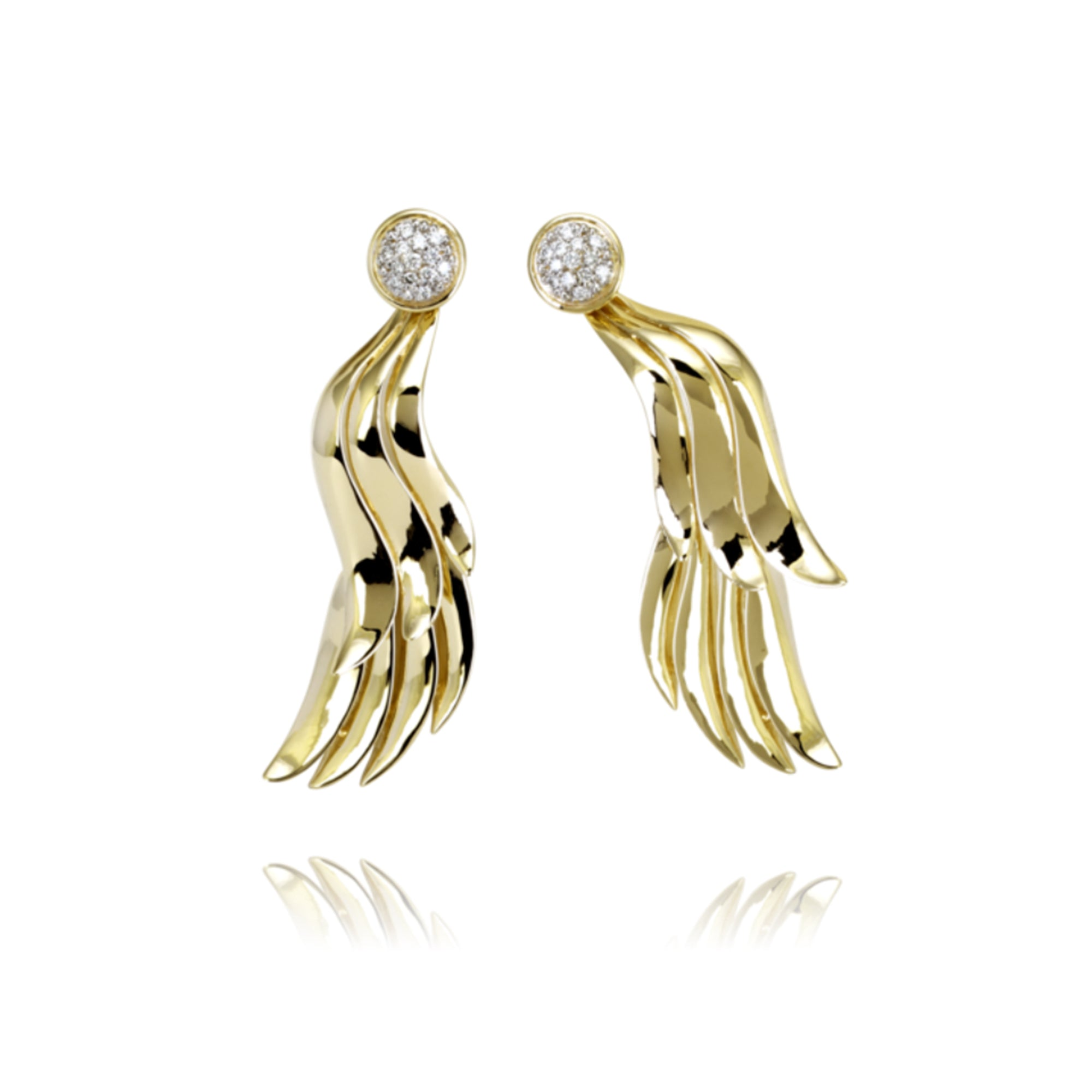 Diamond Wing Earrings by Vahan - Talisman Collection Fine Jewelers