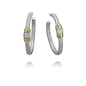 Diamond Hoop Earrings by Vahan - Talisman Collection Fine Jewelers