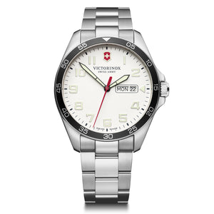 Victorinox Swiss Army White Stainless Steel Fieldforce Watch - Talisman Collection Fine Jewelers