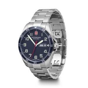 Victorinox Swiss Army Blue Stainless Steel Fieldforce Watch - Talisman Collection Fine Jewelers