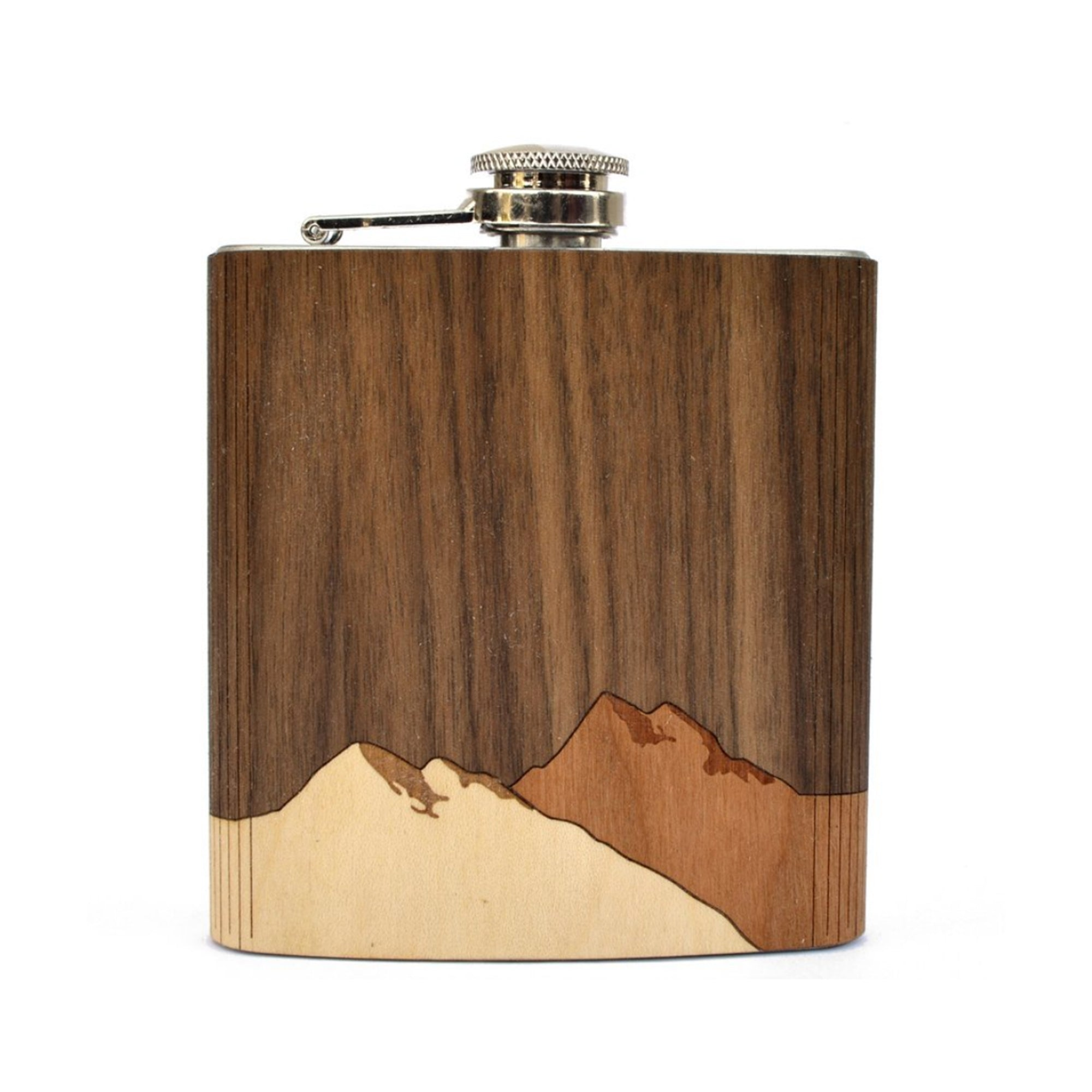 Mountain Scape Wood Flask - Talisman Collection Fine Jewelers