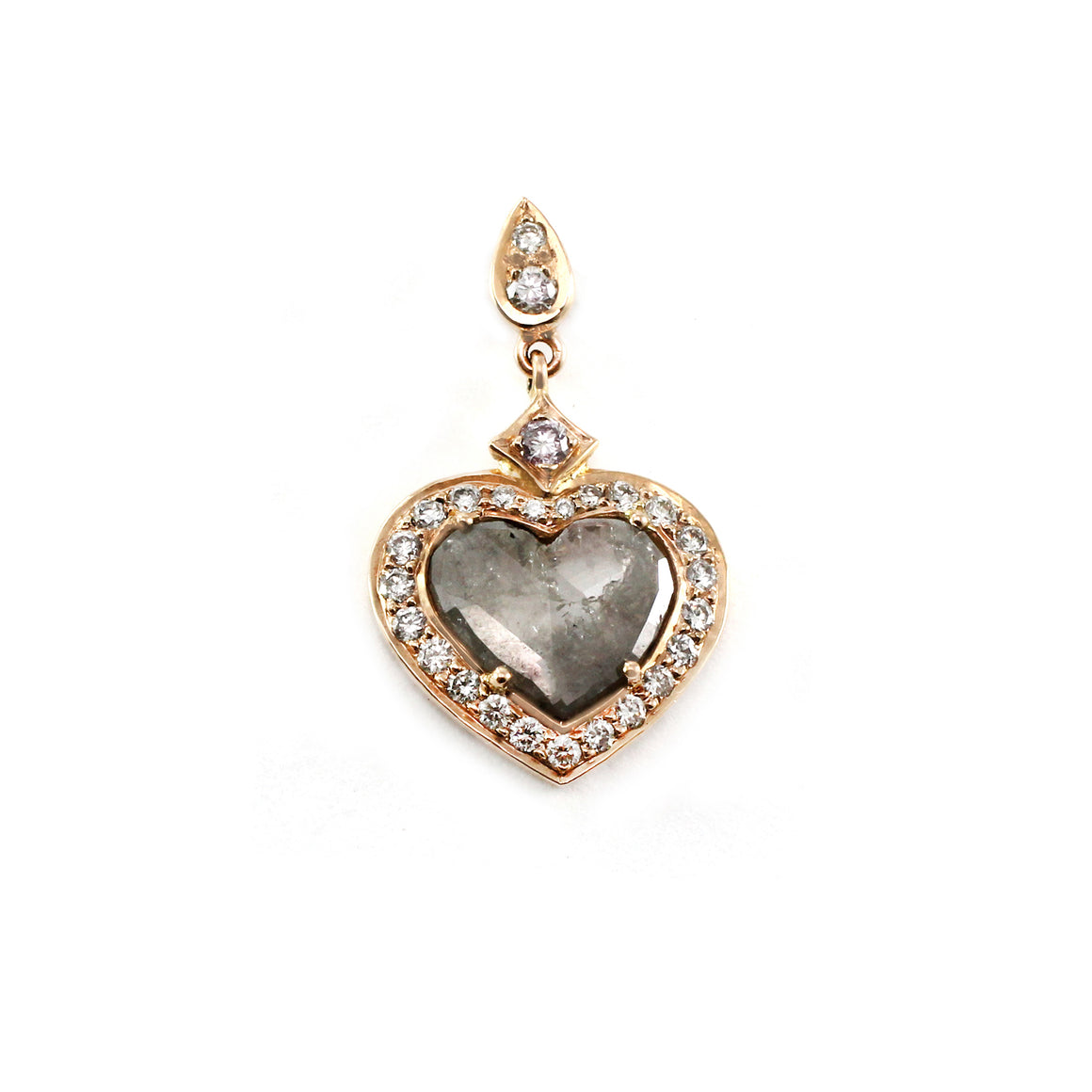 Grey Diamond Slice Heart Pendant by Vivaan - Talisman Collection Fine Jewelers