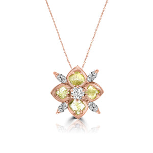 Yellow Diamond Slice and Marquise Diamond Pendant by Vivaan - Talisman Collection Fine Jewelers