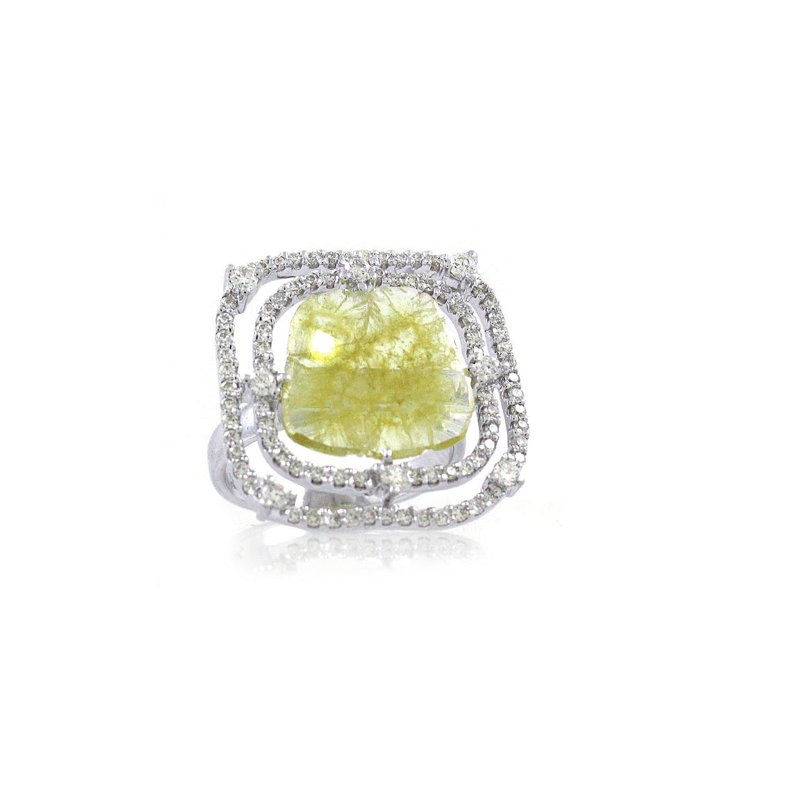 Yellow Diamond Slice Ring by Vivaan - Talisman Collection Fine Jewelers