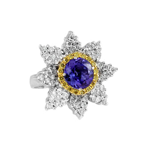 Tanzanite and Yellow Diamond Ring by Vivaan - Talisman Collection Fine Jewelers