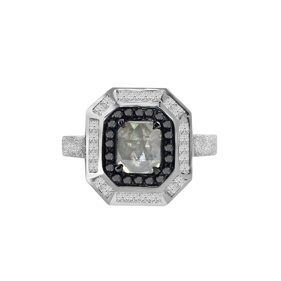 Black and White Diamond Ring by Vivaan - Talisman Collection Fine Jewelers